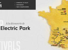 Etape 21 - 103km - Déjeuner dans l'herbe au Elektric Park