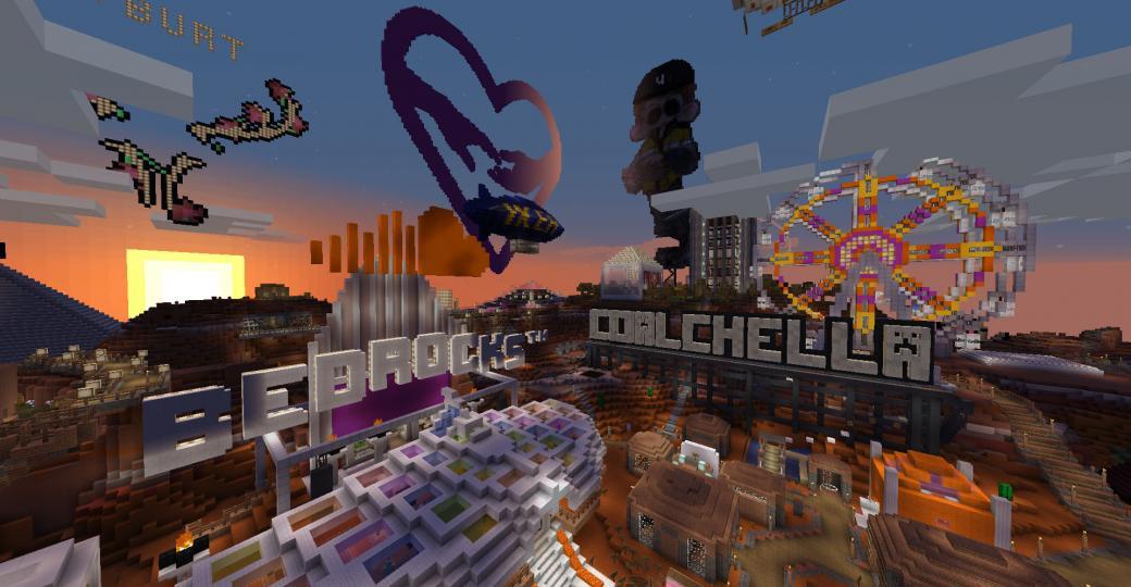 Coalchella, le premier festival électro d'envergure lancé sur Minecraft