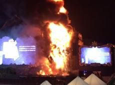 A Barcelone, la scène qui retransmet Tomorrowland en feu