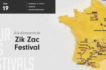 Etape 19 - 222,5 km - Combo musique et street art au Zik Zac Festival