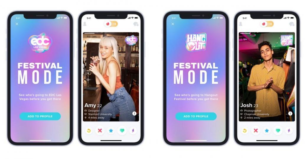Tinder lance le «Festival Mode»pour pécho sec cet été