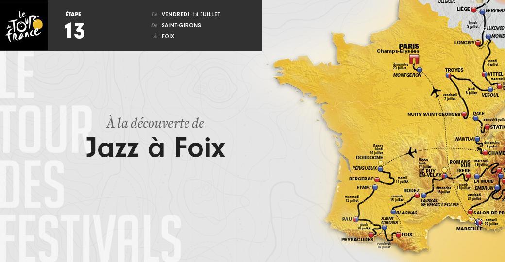 Etape 13 - 101 km - Du feu d'artifice à Jazz à Foix